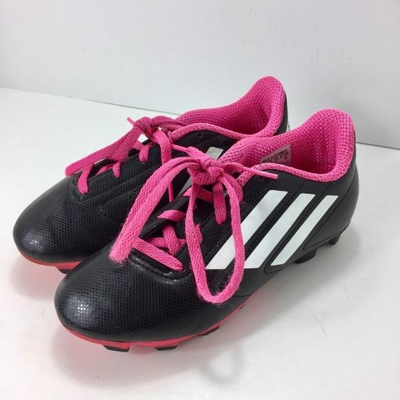 66dc0e2b3 Adidas Conquisto FG J Soccer Cleats B25594 Size 1. adidas.  M 5ca0158a16105d40d3186e98. M 5ca0158b2f48312d4b3e5fb7.  M 5ca0158d2f8276ebd440e076